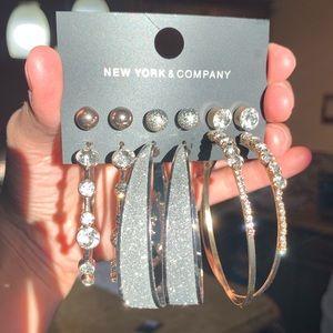 New York & Company: NWT 6 Pairs Earring Set